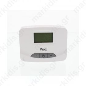 Ηλεκτρονικός ψηφιακός θερμοστάτης χώρου με οθόνη LCD WELL