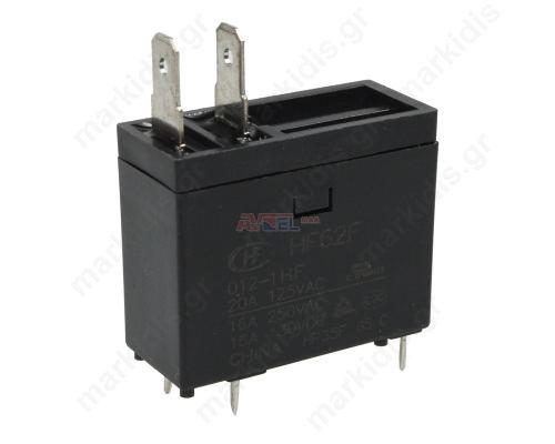 Relay SPST-NO 12VDC 16A/250VAC 20A
