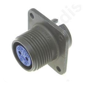 Connector circular Series 97 socket female PIN: 2 soldering