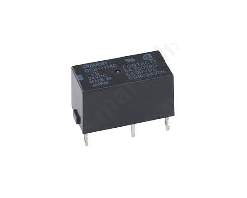 Relay electromagnetic DPST-NC 5VDC 5A/250VAC 5A/30VDC