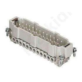 Connector HDC male CNE PIN 24 24+PE size 104.27 16A 500V CNEM24T