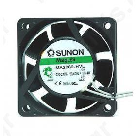 Fan AC axial 230VAC 60x60x25mm 29.7m3/h  30dBA