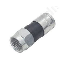 Plug F male straight 75Ω RG59 compression for cable