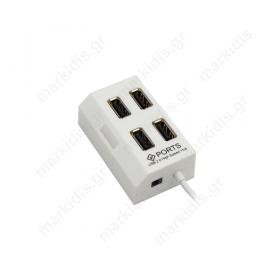USB hub  2.0, 4 θύρες Μαύρο