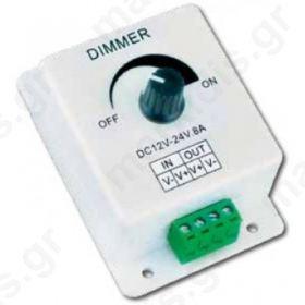 DIMMER LED 12-24VDC/8A 96W