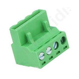 ΚΛΕΜΑ ΚΑΛΩΔΙΟΥ 5mm ways 4 angled 90° plug female