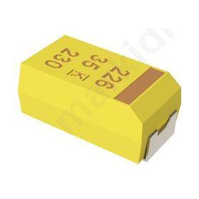 Capacitor tantalum 0.1uF 50VDC SMD Case A 1206 ±10%