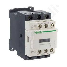 CONTACTOR 3-pole NOx3 Auxiliary contacts NO+NC 24VDC 9A  LC1D09BD