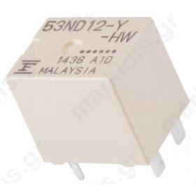 Ρελέ: Ηλεκτρομαγνητικός; 1 Form U; Uπηνίου : 12VDC; 30A; 240 Ω
