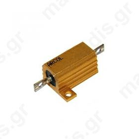 Resistor: wire-wound with heatsink screw 3.3Ω 25W ±5%