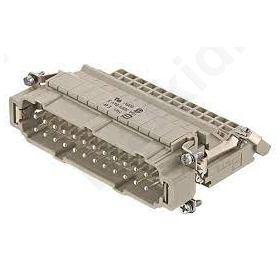 Heavy Duty Power Connectors MALE INSERT 24 POLES+PE
